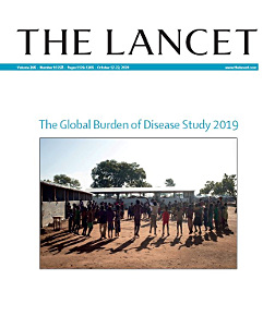 Title page of The Lancet issue including the GBD Study 2019.